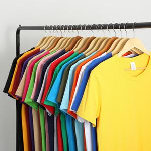 2021 New Cotton Men's T-shirt Short-sleeve Man T Shirt Short Sleeve Pure Color Men T Shirt T-shirts for Male Tops
