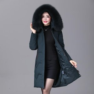 2020 winter Women duck down coat parka long ultralight natural feather Real fur luxury high quality duck down jacket #8929