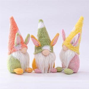 Páscoa coelho gnomo gnomo coelhinho boneca presentes feriado decoração para decoração de casa de páscoa ou crianças de férias de férias