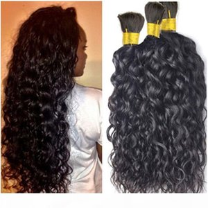 8A Brazilian Human Hair Bulk For Hair Extensions Natural Wave 12-32inch Brazilian Braiding Hair Drop Shipping