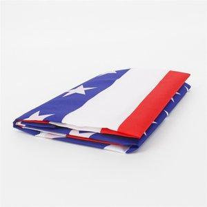 3x5 ft Amerikanische Flagge 90 * 150 cm Vereinigte Staaten Sterne Streifen USA Flaggen US General Wahlland Banner HHE2842