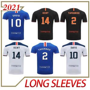 2020 2021 Glasgow Rangers FC Dritte Away Fussball Jerseys 20 21 Defoe Hagi Morelos Tavernier Rangers Weiße Fußball Hemden MAILLOT DE FOUT