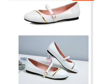 2021 Spring and Autumn with New style fashion flat bottom round head Women's shoes@WW7714
