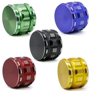 High Quality 63mm Grinder Drum Concave Grinder Zinc Alloy Tabacco Spice Crusher 4 Layer Shark Tooth Smoking Accessories