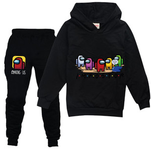 Among Us Hoodies Pants Suit for Teens Girls Boys Children Cartoon Anime Sweatshirt Suit Kids Autumn Winter Clothes Sudadera