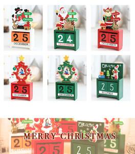 2020 3D Legno Natale Calendario Cute Santa Milu dei cervi del pupazzo di neve stampati Calendario Bambini Regali regali del partito di Natale Decorazioni