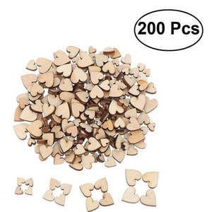 200pcs Wooden Heart Confetti For Craft Wedding Party Favor Baby Shower Decor Diy Table Scatter Birthday De sqcJkH