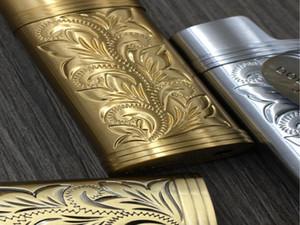 Armatura in metallo Gas Accumulatore Gas Shell Arabesque Hollow Scultura J5 Accendino Caso Generale Plastica Protezione del corpo Protezione Accendino Copertura SQCOHG Toys2010