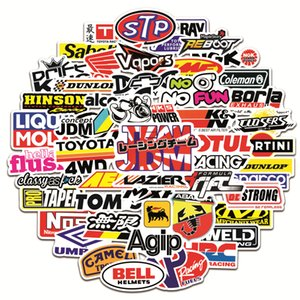 50pcs lot Motorcycle outdoor stickers For car Cup Helmet Bike Laptop car folder Skateboard iPad Motorcycle Notebook Phone Decal Pvc Stickers