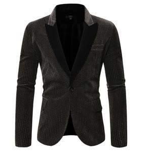 New Blazer Men Jacket Casual Single Button Men Suit Jackets England Style Wedding Dress Suits terno masculino