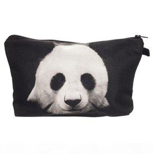 3D Panda Pattern Cosmetic Bag Function Makeup Case Zipper Make Up Organizer Storage Pouch Toiletry Beauty Wash Bag for Women