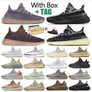 Double Box высочайшее качество 2021 Kanye West Men Женская обувь Ash Fade Lundmark Anticia Статический светоотражающий Zebra Israfil Oreo льняная обувь