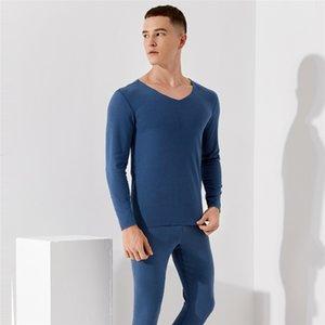 Thermische Unterwäsche Set männer dünne doppelseitige mattierte Herbstkleidung und -hose ROPA Interior Termica Hombre Thermo Shirt