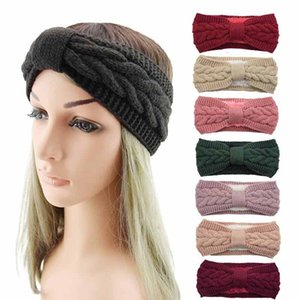 Winter Keep Warm Knitting Headband Women Woolen Yarn Hairband Outdoors Sports Headwear Thickening Yoga Head Band Party Favor Kimter-C6FZ