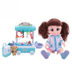 New Electric Doctor Doll Simulation Medicine Box Stethoscope Medical Kit Role Playing Game Toys for Girls