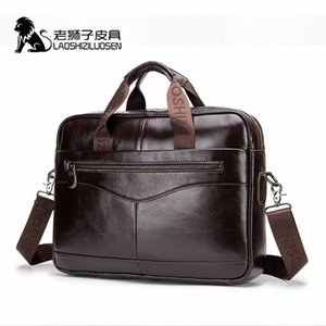 Bolso X0DQ # Mens Original Laoshizi Men Aktentasche 91504 Tasche Tasche Lederarbeit Messenger Hombre Leder Luogen BLXDE