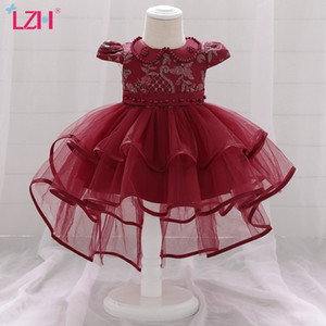 LZH New Baby Girls Dresses For Baby Princess Dress 1st Year Birthday Dress Infant Wedding Party Christmas Dress Newborn Clothes F1203