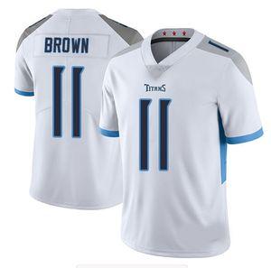 Hommes 22 Derrick Henry 17 Ryan Tannehill 31 Kevin Byard 11 AJ Brown American Football Jerseys 2041