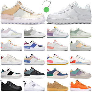 2021 force 1 af1 one shoes shadow tênis feminino masculino tênis fashion tênis sombra triplo branco Spruce Aura Pale Ivory Washed Coral Aurora Sapphire tênis masculino outdoor