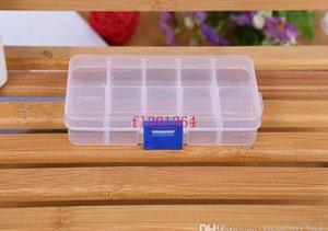 FedEx DHL Envío gratis Ajustable 10 compartimento Caja de almacenamiento transparente de plástico para la herramienta Pendiente de la joyería Conta BBYTJN LG2010