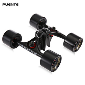 Puente 2pcs / 세트 70 x 51mm 스케이트 보드 트럭 스케이트 바퀴 라이저 ABEC - 9 베어링 볼트 너트