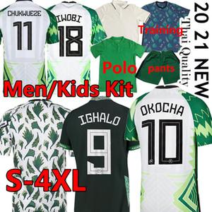 2020 Jersey de football 20 21 Maillot de pied Okechukwu ighalo Okocha Ahmed Musa Ndidi Mikel Iheanacho Hommes Kit Kit Kit de football 4XL