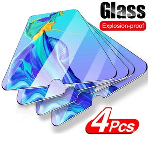 4Pcs Full Tempered Protective Glass For Huawei P30 P20 P40 lite P Smart 2019 Z Screen Protector For Huawei Mate 10 20 lite Glass