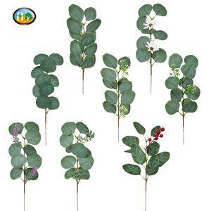 Simulation plant Eucalyptus leaf sprigs Table wedding decoration party supplies
