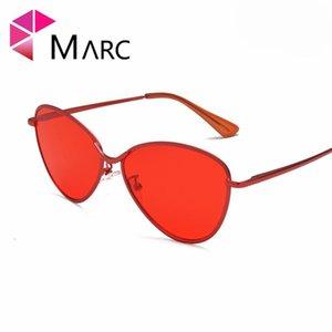 Sunglasses MARC 100%UV400 WOMEN MEN 2021 Brand Design Fashion Trendy Metal Alloy Cateye Gafas Oculos Eyewear Clear Resin