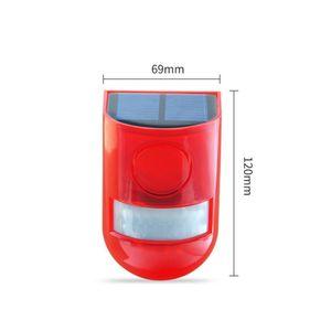 Водонепроницаемая солнечная сигнализация Light Light Signal Security SireN Light 6 LED Alarm Предупреждение Безопасность Безопасность Анти-кража Мигающий Световой датчик Садовая лампа 235 G2