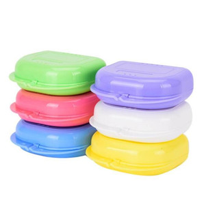 Brace Storage Boxes Tooth Socket Storage Case Mouthguards Biteguards Box Colorful Dental Orthodontic Retainer Dentures Sport Guard PPB3744