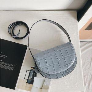 Designer-New Fashion Cow Leather Ladies Hand Bags Casual Crocodile Pattern Women Messenger Bags 2020 Luxury Designer Female Crossbody Bag