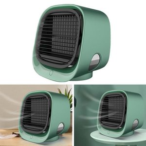 Office Mini Portable Conditioner Multi-function Humidifier Purifier USB Desktop Air Cooler Fan with Water Tank Home