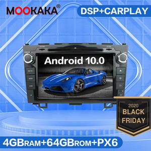 4G SIM LTE Android 10.0 4+64GB Car GPS Navigation DVD Player For Honda CRV CR-V 2006-2011 Auto Radio Multimedia Head Unit
