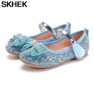 Skhek meninas bling shoes novo verão toddler liso sapatos crianças crianças menina pu strass princesa borracha dança sandálias sapato kid1