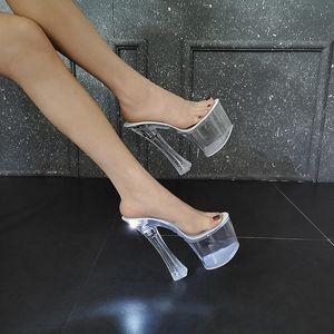 الصيف الكعوب مضيئة المرأة ملهى ليلي النعال الصمام الخفيفة الصنادل النسائية الكريستال أسفل المنصة القطب الرقص أحذية الحجم 34-43