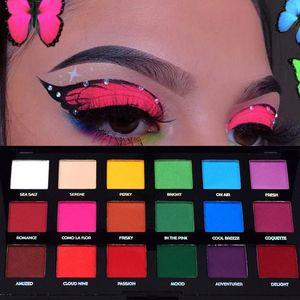 18 Colors Matte Bright Eyeshadow Palette Smoky Color Waterproof Long-lasting Make Up Palette Gloss Eye Shadow Cosmetics