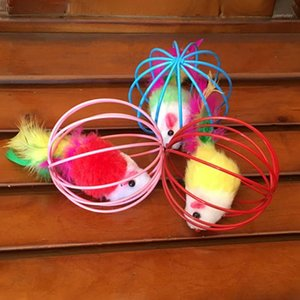 3pcs Cat Interactive Toy Giocattolo Palla Palla con campana Mouse Cage Giocattoli Plastica Pet Colorful Cat Teaser Play Bell Bell Sound Ball Toys1