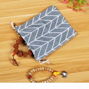 Fashion Drawstring Canvas Cosmetic Bag Organizer Storage Makeup Pouch Travel Make Up Case Plaid Toiletry Beauty Wash Box