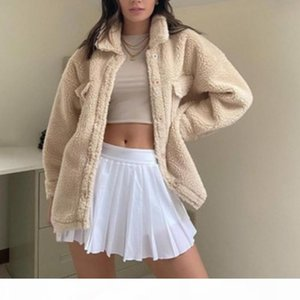 2020 New Tenny Skirt A-line White High Waist Mini Tennis Skirt Ruffle Casual Skirt Womens Summer Overall Tennis Skorts