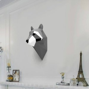 3D Raccoon Animal Paper Model Wall Art Sculpture Toy Home Decor Living Room Decor DIY Paper Craft Model Party Gift