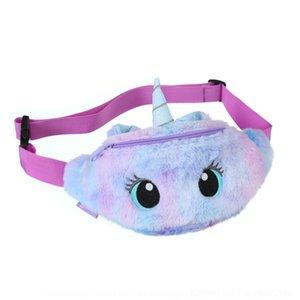 n3z8 cartoonunicorn pack peluche enfants taille ceinture ceinture sacs jolies filles bandoulière sac de messager mode gros yeux sac à main voyage plage épaule