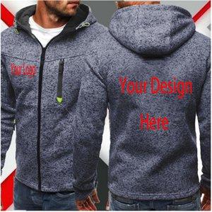 Пользовательские DIY Текст Фото Название команды Zipper толстовки свой собственный дизайн молнии Толстовка Спорт пальто Hoodie C1118