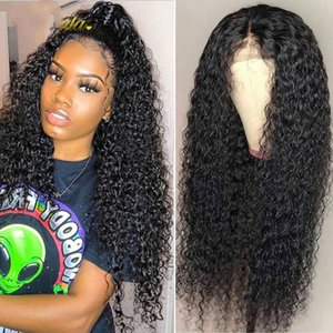 Curly Human Hair Brazilian Deep Wave Lace Front Human Hair Wigs For Women 150 Density Glueless Wigs Transparent T Part Wig