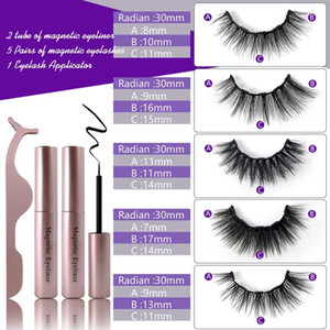 5 10 Pair Magnetic False Eyelashes Liquid Eyeliner Set No Glue Natural Waterproof Lasting Long Eyelash