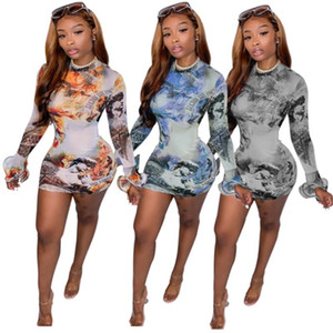 Women Casual Dresses summer fall clothes sexy club bodycon dresses elegant holiday party dress short dress long sleeve print letter 0631
