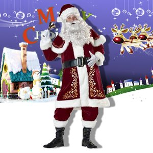 Christmas Costumes for Adult Men and Women Santa Claus Christmas Dress Christmas Couple Costumes Cosplay Hot Sale