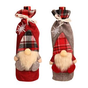 Kacuyelin Christmas Gnomes Wine Bottle Topper Cover Decorative Wine Bottle Topper Cover for Christmas Decorations new year 2021