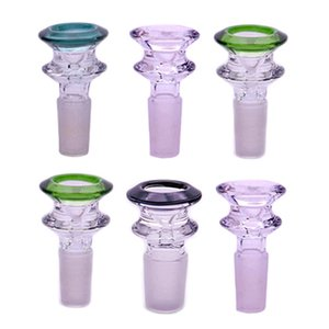 high quality mobius 14mm 18mm Male Wig Wag Glass Bowls Colored Smoking Bong Bowls Piece For Tobacco Glass Water Pipes Bongs Dab Oil Rigs