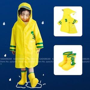 Çocuklar Karikatür Dinozor Su Geçirmez Yağmur Çizmeleri Çocuk Yağmur Geçirmez Ayakkabı Bebek Kız Erkek Rüzgarlık Yağmurluk Rüzgar Geçirmez Cloak Pelerinler